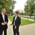 Riz Leventével, Rákosmente polgármesterével 2010-ben